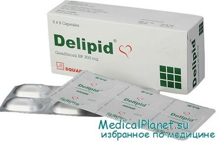 Фибраты - гемфиброзил (делипид)