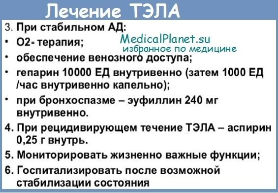 Артериальная гипертензия малого круга при ТЭЛА - диагностика, лечение