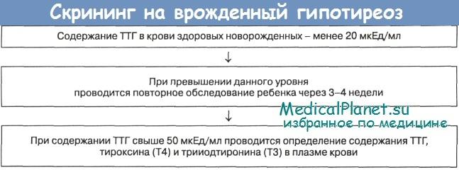 Скрининг на врожденный гипотиреоз